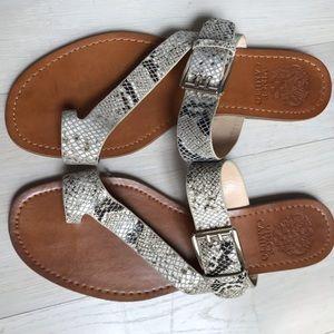 Vince Camuto Flat Snake Skin Sandals 8.5